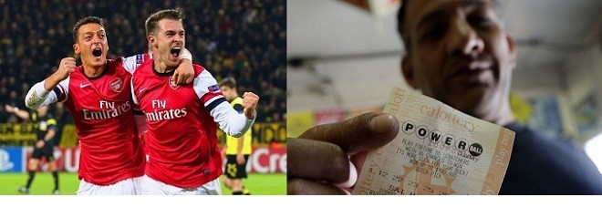 Arsenal vs Bayern Munich outcome as an indicator for US Powerball lottery draw result