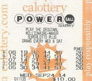 The winning Powerball ticket  in September 24th US Powerball draw
