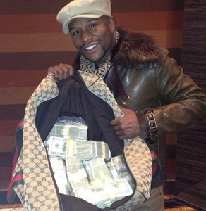 Show off your money like Floyd Mayweather - win the US Powerball jackpot