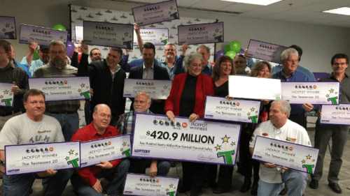 The Tenessee 20 Powerball Syndicate is one of the biggest Powerball syndicate winners. They won $420 million!