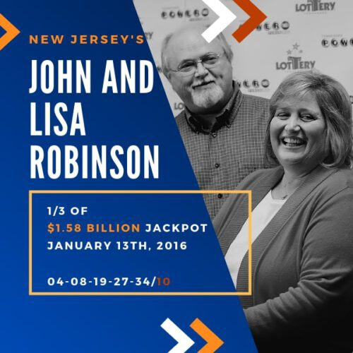 John and Lisa Robinson - 1/3 of $1.6 Billion - 2016