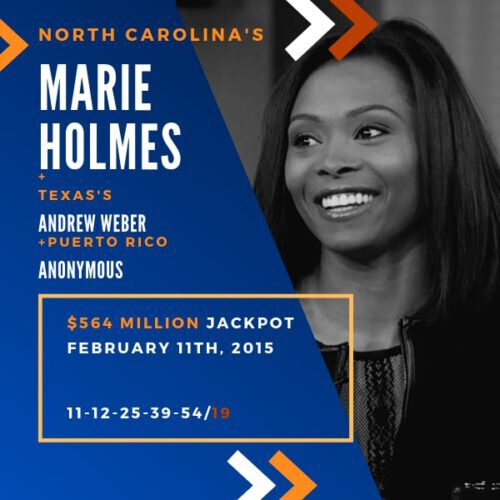 Marie Holmes - 1/3 of $564 Million – 2015