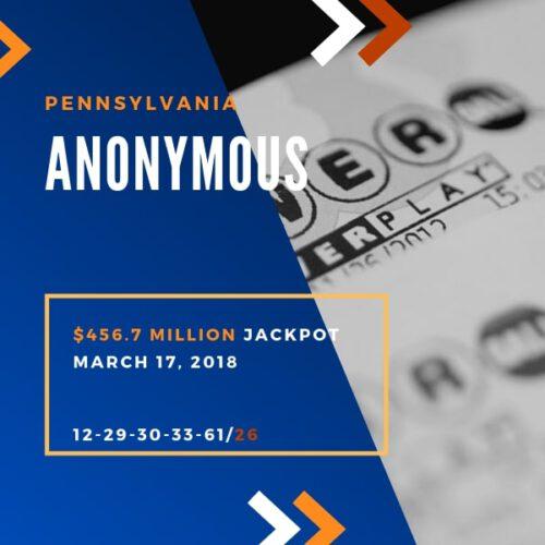 Anonymous Winner - $456.7 Million – 2018