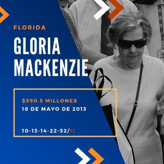 mayores ganadores del Powerball - Gloria Mackenzie