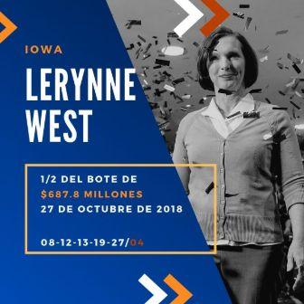 mayores ganadores del Powerball - Lerynne West