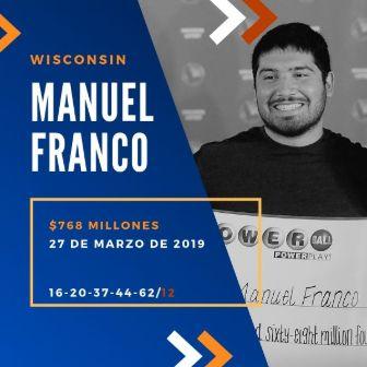 mayores ganadores del Powerball - Manuel Franco