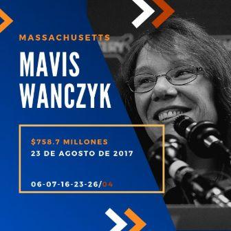mayores ganadores del Powerball - Mavis Wanczyk