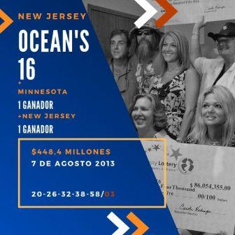 mayores ganadores del Powerball - Ocean's 16