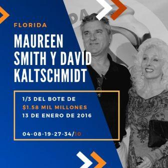 mayores ganadores del Powerball - Maureen Smith y David Kaltschmidt