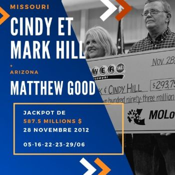 Cindy et Mark Hill - Powerball - 1/2 de 587,5 millions