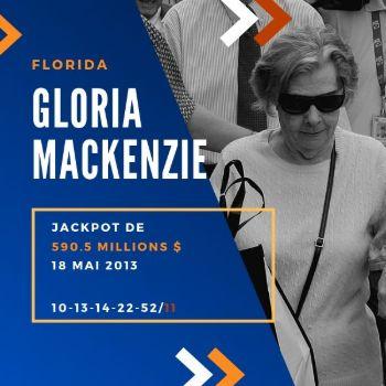 Gloria Mackenzie - Powerball - 590,5 millions $