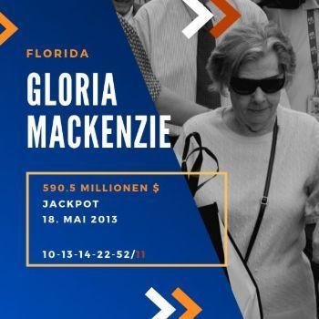 Gloria Mackenzie - Powerball -590,5 Mio. $