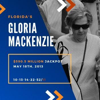 Gloria Mackenzie - Powerball - $590.5 Million