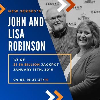 John and Lisa Robinson - Powerball - 1/3 of $1.58 billion jackpot