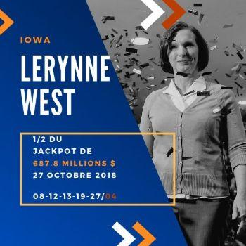 Lerynne West - Powerball - 1/2 de 687,8 millions $