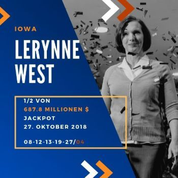 Lerynne West - Powerball - 687,8 Mio. $