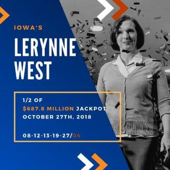 Lerynne West - Powerball - 1/2 of $687.8 Million