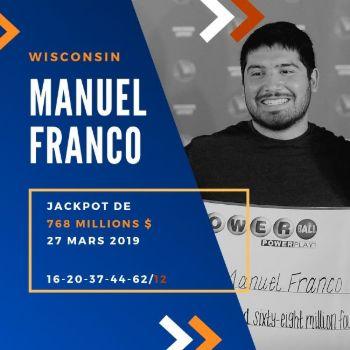 Manuel Franco - Powerball - 768,4 millions $