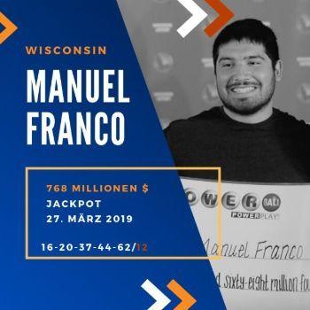 Manuel Franco - Powerball - 768,4 Mio. $