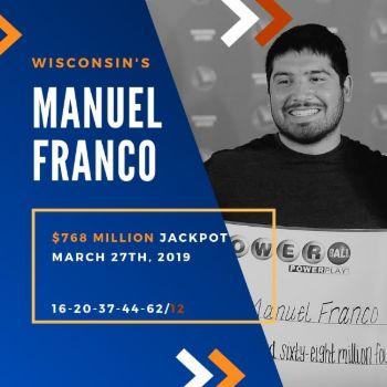 Manuel Franco - Powerball - $768.4 Million