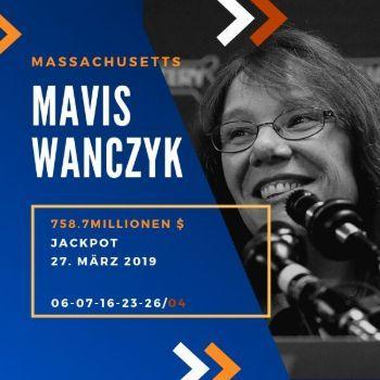 Mavis Wanczyk - Powerball - 758,7 Mio. $