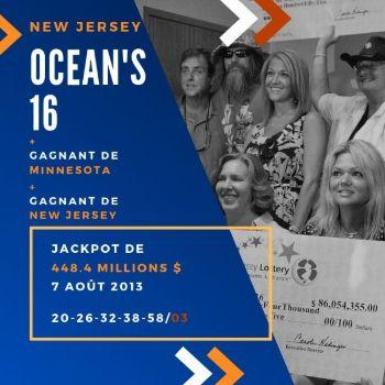 Ocean's 16 - Powerball - 448,4 millions $
