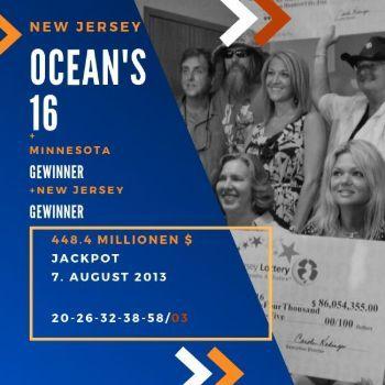 Ocean's 16 - Powerball - 456,7 Mio. $