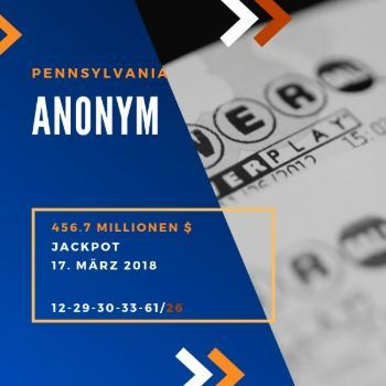 Anonym - Powerball - 456.7 Mio. $