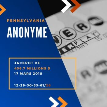 Anonyme - Powerball - 456 Million $