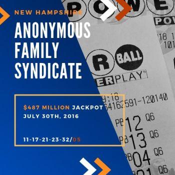 Anonymous Family Syndicate - Powerball- $487 Million