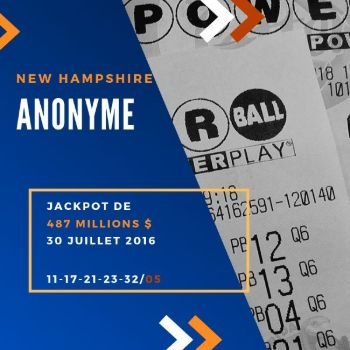 Anonyme - Powerball - 487 Million $