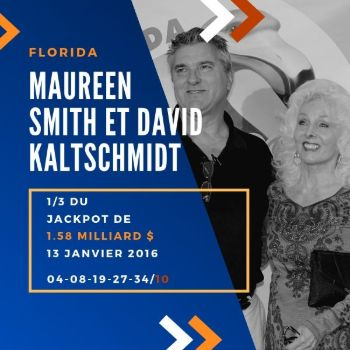 Maureen Smith et David Kaltschmidt - Powerball - 1/3 de 1,58 milliard $
