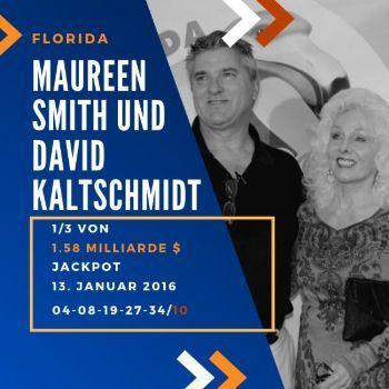 Maureen Smith und David Kaltschmidt - Powerball - 1/3 1,6 Mrd. $