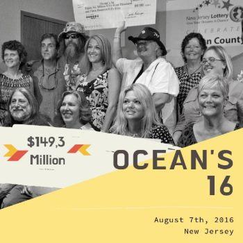 Ocean's 16 - Powerball - $149.3 Million