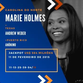 Marie Holmes - US$ 564 milhões