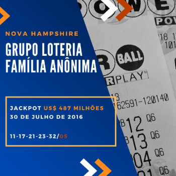 Grupo loteria anônimo - US$ 487 milhões