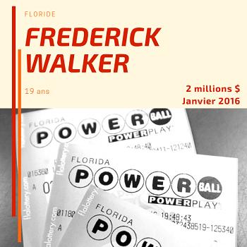 Frederick Walker - 2 millions $ - janvier 2016