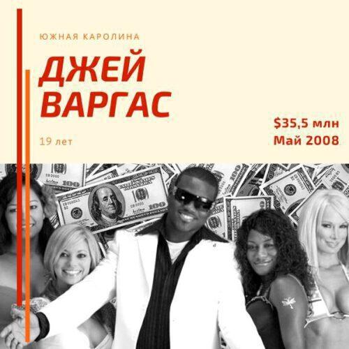 Джей Варгас - $35,5 млн - 19 лет (2008)
