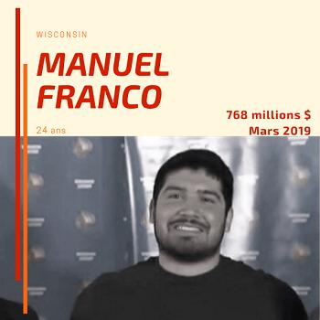 Manuel Franco - 768 millions $ - 24 ans